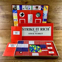 Strike It Rich Playing The Stock Market Vintage Board Game Unused Mint Game Sales, Family Games, Stock Market, Board Games, Mint, Play, Marketing, Cards, Vintage