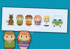 Mini People - Scooby-Doo cross stitch pattern by cloudsfactory