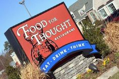 Food For Thought restaurant, Williamsburg, VA. Loved this place! Wish it was in my state!