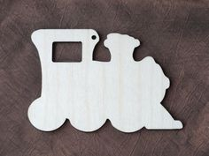 5x Wooden Birch Ply Train Blank Hanging Gift Shape  Decoration Plaque Kids Tag 11 x 8cm
