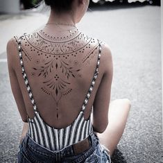 Digital concept available / projet disponible - Credit : - Contact : - Back Tattoo Women Upper, Upper Back Tattoos, Girl Back Tattoos, Female Back Tattoos, Feminine Back Tattoos, Spine Tattoos, Body Art Tattoos, Tribal Tattoos, Sleeve Tattoos