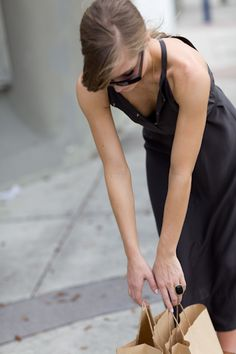 Tie Waist Dress - Slate | Emerson Fry