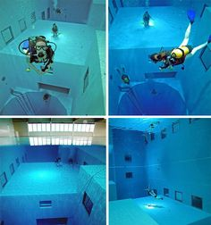 Nemo 33_ The deepest indoor swimming pool in the world (113 ft deep) located in Brussels, Belgium