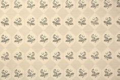 1950s Vintage Wallpaper - Nancy McClelland Gray and Beige Companion Floral