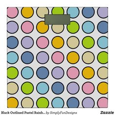 Black Outlined Pastel Rainbow Polka Dots Bathroom Scale #bathroomscale #weightloss #scale #bathroom #homedecor