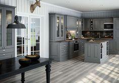 TRADISJONELT: Ifølge Mie B. Grevstad i Sigdal Kjøkken ses mer og mer av at det klassiske kjøkkenet møter den industrielle stilen.