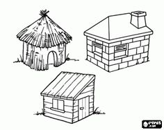 Color the Three Little Pigs | Kids- Once Upon A Time | Pinterest ...