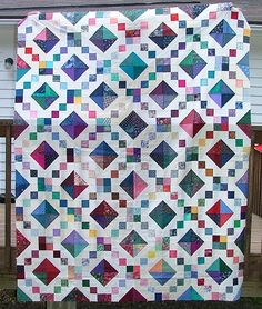 good idea for scrap quilt