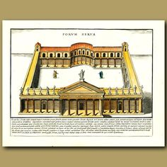 35 x 24.5 cm (13.8 x 9.8 inches).Forum NervaeThis is a large copperplate…
