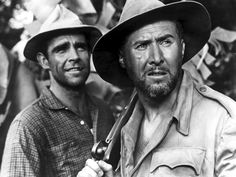 """Sean Connery and Anthony Quayle in Edgar Rice Burroughs' """"Tarzan's Greatest Adventure"""" (1959). Quayle is best known for his work on """"Lawrence of Arabia"""", """"Guns of the Navarone"""", and his Oscar nominated performance in """"Anne of the Thousand Days""""."""