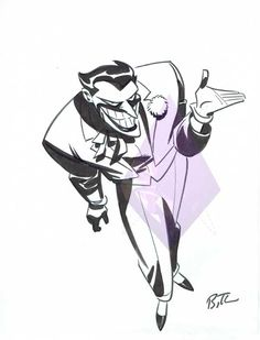 Joker by Bruce Timm Comic Art Bruce Timm, Comic Book Artists, Comic Books Art, Comic Art, Comic Character, Character Design, Joker Kunst, Univers Dc, Joker Art