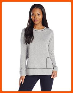 Calvin Klein Women's Colorblock Planal Pullover, Light Grey/Black, X-Small - All about women (*Amazon Partner-Link)