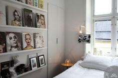 Use magazine and books to decorate the walls