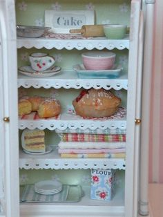 Miniature kitchen dream hutch by HamptonIvyDesigns on Etsy
