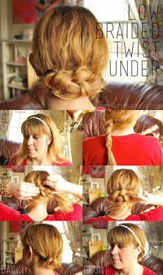 OH SO PRETTY the DIARIES: the TUTORIAL: LOW BRAIDED TWIST UNDER