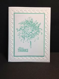 Blooming With Kindness Thank you Card Handmade Cards Stampin' Up! Rubber Stamping Birthday Card Flower Cards
