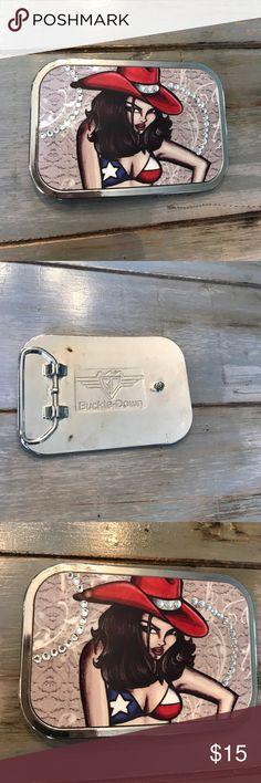 Belt buckle Super cool bling cowgirl belt buckle Accessories Belts