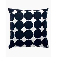 Pienet Kivet  cushion cover 50x50 cm - white, black - All items - Home  - Marimekko.com Marimekko, Modern Throw Pillows, Handmade Pillows, Decorative Pillows, Decorative Objects, Cushion Covers, Pillow Covers, Design Shop, Polka Dots