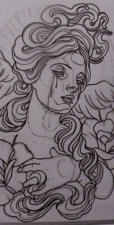 67 Ideas Drawing Sketches Flowers Illustrations For 2019 Tattoo Sketches, Tattoo Drawings, Drawing Sketches, Art Drawings, Simbolos Tattoo, Tatoo Art, Tattoo Flash, Kunst Tattoos, Body Art Tattoos