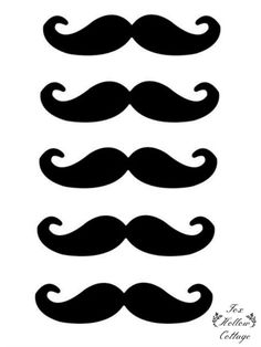 Free Printables: Lip and Mustache Silhouette Cut-Out Photo Booth Party Props