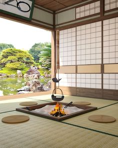 Japanese Style House, Traditional Japanese House, Japanese Interior Design, Japanese Homes, Zen Interiors, Bedroom Minimalist, Architecture Design, Contemporary Architecture, Decoration