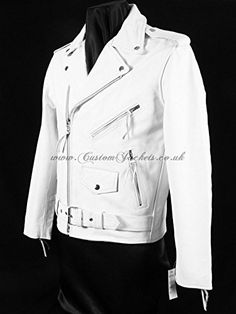 aahhh,, yes please! White Motorcycle, Motorbike Leathers, White Leather, Biker, Raincoat, Indian, My Style, How To Wear, Leather Jackets