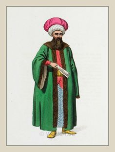 Turkish Military Costume. Traditional Ottoman Empire mens dress.