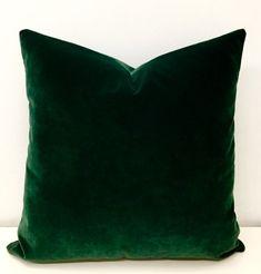 50 Pieces For Luxury Dark Green Velvet Throw Pillow, Velvet Pillow Cover, Green Pillow, Decorative Velvet Cushion Case, Velvet Pillows Green Velvet Fabric, Green Velvet Pillow, Green Throw Pillows, Velvet Cushions, Diy Pillows, Green Cushions, Couch Cushions, Pillow Ideas, Toss Pillows