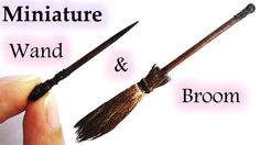 tutorial: miniature witch's broom & wand