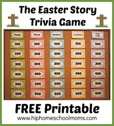 Today I'm over at Hip Homeschool Moms sharing an Easter Story trivia game that I made to share with y'all (I'm getting ready for our move to Texas). If you are looking for a break from all the Easter crafts and goodies, but still want to have some family fun while keeping your focus …