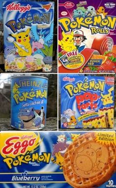 90s Pokemon Food Products
