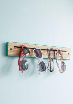 Try Every Dangle Rack - Blue, Dorm Decor, Colorblocking, Minimal, Tan / Cream