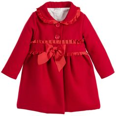 Girls Red Astrakhan Coat | Coats Traditional and Warm