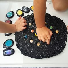 Galaxy Play Dough with Space themed Story Stones!acraftyliving… – In All You Do & Thrifty Homeschoolers Galaxy Play Dough with Space themed Story Stones!acraftyliving… Galaxy Play Dough with Space themed Story Stones! Space Preschool, Space Activities, Sensory Activities, Preschool Activities, Planets Preschool, Indoor Activities, Party Activities, Motor Activities, Sensory Play