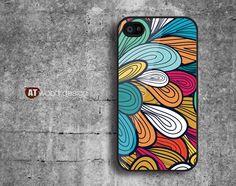 Case for black iphone 4 case iphone 4s case iphone 4 cover classic illustrator beautiful colors graphic design printing. $13.99, via Etsy.