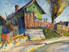Emil Kosa Jr. - House on Bunker Hill - California art - fine art print for sale, giclee watercolor print - Californiawatercolor.com