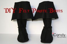 icandy handmade: (tutorial and pattern) Semi-Homemade Pirate Costume: DIY Pirate Boots