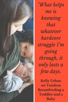 Would you consider nursing throughout your pregnancy and then tandem nursing your toddler and baby? Kelly Urban did... her beautiful story can be found at happyhumanpacifier.com