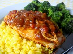 My favorite go to recipe when I am tired and don't want to cook!    Salsa Chicken from Food.com:    Super fast & easy to fix on work nights.  4 oz. = 4 WW points (without rice)    *Note - in response to some reviews that experience the sauce being too runny or thin...extend t...