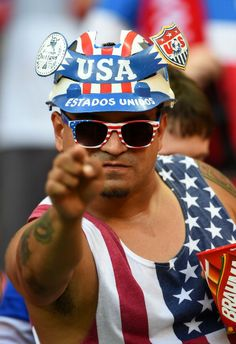 Fan representing the USA