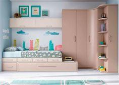 Habitación Juvenil linea modular con 2 camas