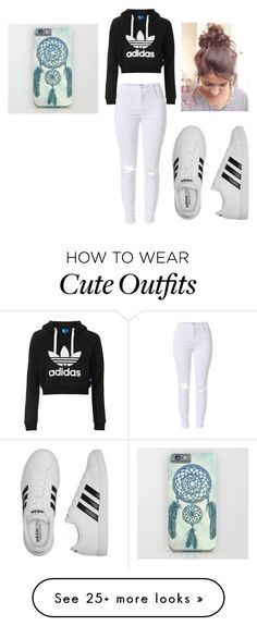 """Outfit For School"" by tessa-mock on Polyvore featuring Topshop and adidas"