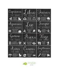 Ces aimants de zodiaque MINI uniques font le cadeau parfait ou une douce surprise. ● Cette liste spécifique est pour un aimant brillant - 2 « x 1,75