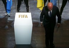 FIFA President Sepp Blatter leaves the stage after making a speech during the opening ceremony of the 65th FIFA Congress in Zurich, Switzerland, May 28, 2015. REUTERS/Arnd Wiegmann
