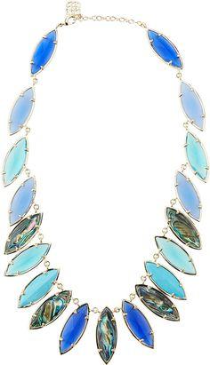 Kendra Scott Nalin Mixed-Stone Necklace, Fiji