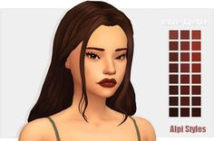 """ayoshi-sims: """" So I decided to create me first (probably last) lipstick. I'm really proud of it even through it may suck, but feel free to roast me if it does. Please enjoy and send me screenies if. Sims 4 Mods, Maxis, Sims 4 Mm Cc, My Sims, Unisex Looks, Pelo Sims, Sims 4 Characters, Sims4 Clothes, Sims 4 Cc Makeup"""