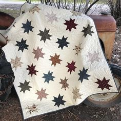 "Wow! This is a really striking quilt! Just love it!! They used fabric by our HG Designer Stacy West of Buttermilk Basin. ""The Spirit of…"
