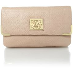 Biba Faith embossed clutch bag ($185) ❤ liked on Polyvore
