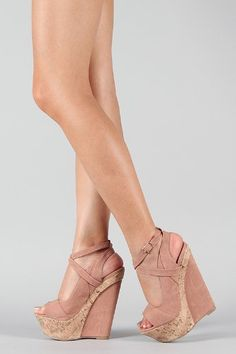 £42.00 Shoehorne Peace-3 - Womens Nude Blush Pastel Criss cross Ankle Strap Open Toe High Heeled Sandals Cork Platform Wedge Heel Shoes - Avail in Ladies Size 3-8 UK: Amazon.co.uk: Shoes & Accessories