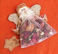 Angel Potpurri (13 cm. de alto ) Aroma Relajante Anti-Stress Gatitos angeles: Hechos en tela de algodón y en colores variados (18.5cm. ...